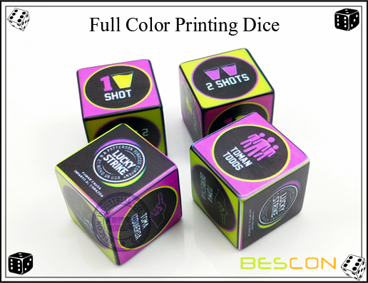 Full Color Printing Dice 30MM-3