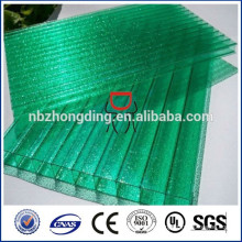 China hohle Polycarbonat-Platte / Polycarbonat Sonnencreme / PC Sonnenbogen Hersteller