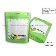 Пластиковая сумка из прозрачной одежды с вешалкой