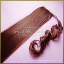 Long Indian remy Human Hair Drawstring Ponytail