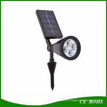 4 LED Солнечной лужайки Солнечный сад лампы пятно света Открытый газон пейзаж фары