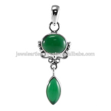 Green Onyx 925 Sterling Silver Pendant Jewelry