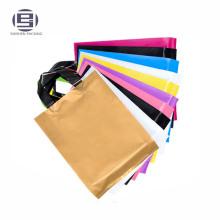 Recycled PE Shopping Bags Plastic Bags, soft Loop Handle Bags plastic loops