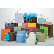 Todas las clases de bolsos de papel de Kraft con las manijas, aduana aceptada