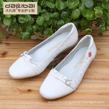 2015 new style no heel wedge cheap plain white leather shoes