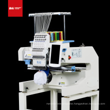 BAI High efficiency and ricoma multifunctional single head 12 needle computer high speed 3d cap embroidery machines price