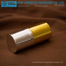 ZB-B50 50ml brilhante dourado e prata cromado garrafa de vácuo plástico cor personalizável cosméticos