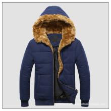 A mais recente jaqueta básica de inverno de microfibra com capuz para homens