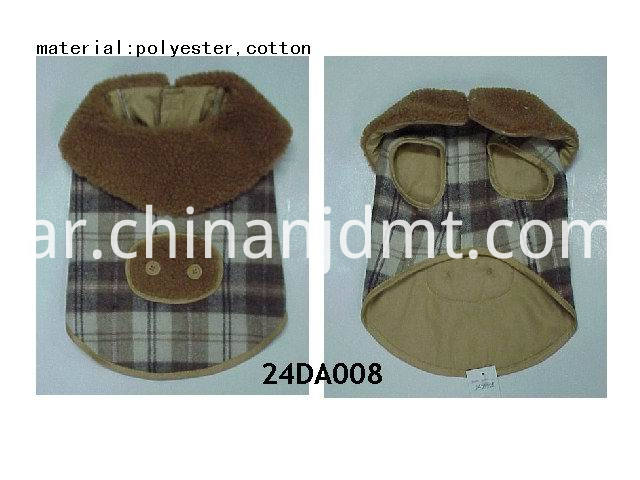 Brown Plaid dog clothes