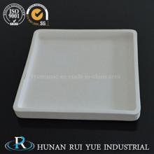 Crisol de plato de cerámica alta temperatura corrosión resistencia alúmina Rectangular para horno horno
