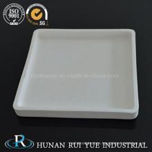 Crisol de cerámica de alúmina de alta pureza 99-99.97% forma rectangular y barco de crisol