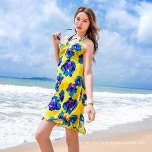 Casual vacation dress bali sarong chiffon scarf colorful beach pareo