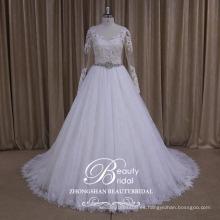 AK035 falda puffy vestido de novia 2017 de lujo
