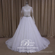 AK035 puffy skirt wedding dress 2017 luxury