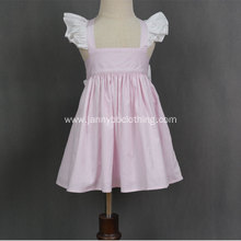 Latest Fancy summer pink stripe baby girl dresses