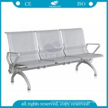 AG-TWC004 Estructura de metal en sillas de sala de espera de hospital de metal de tres plazas