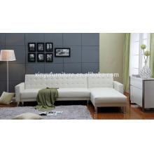 Sofá de sala de espera branco XYN2064