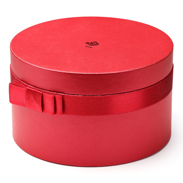 Matte+Red+Round+Cardboard+Boxes+with+Lids