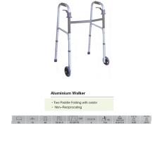 Walker pliable à deux roues avec roulette