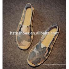 Homens portáteis camo calçados casuais sapatos de lona dos homens
