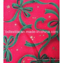 El precio de fábrica modificó la tela decorativa del brillo de las flores de X'mas