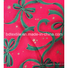 Factory Price Customized Decorative X′mas Flowers Glitter Fabric