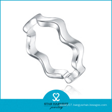 Wholesale Rhodium Plated Plain 925 Ring (SH-R0460)