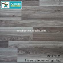 NWseries Three pieces of ginkgo Parquet wood flooring HDF core Parquet Flooring
