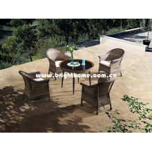 Muebles de comedor al aire libre de mimbre Bp-3017