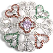 2016 diseño de plata de cobre Zircon Pave accesorio conectar para collar de joyería DIY