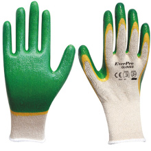 Hot Sale 10G Polycotton Liner Latex Double Coated Gloves