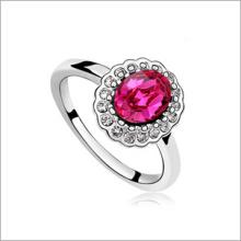 VAGULA ronde Fashion de Zircon argent anneau
