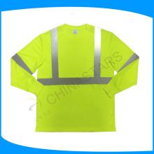 Tipo de suministro del servicio del OEM Camisas de seguridad reflexivas de manga larga