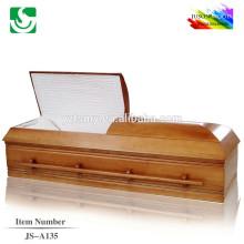 Spécialisée des cercueils de vente chaude en gros chêne de style américain