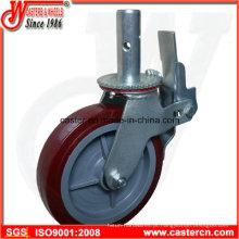 Wanda Fornecedor Rodízio de andaime de alta qualidade com 8 polegadas TPU roda