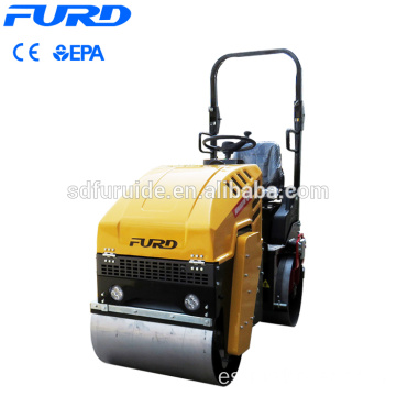 1 Ton Diesel Tandem Vibratory Asphalt Road Compactor Roller with CE EPA Fyl-880