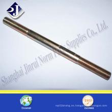 Perno de perno plateado zincado de acero de aleación