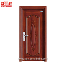 Fournisseur d'or dernière porte en acier de porte intérieure de porte de conception de Chine