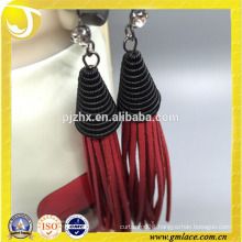 China Supplier Wedding Dresses red leather Earring