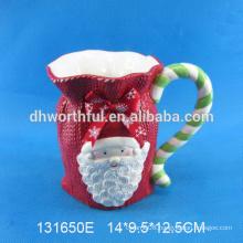 Custom Ceramic Christmas Mug with santa claus shape