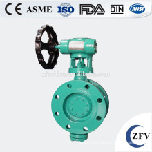 Soft sealing double flange butterfly valve