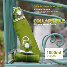 Sport+silicone+collapsible+water+drinking+bottle