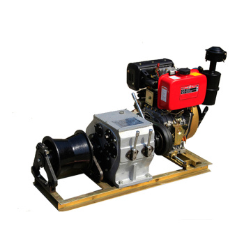 Winch Manufacturer 3 Ton Diesel Engine Engine Powered Winch Cable Mulling Machine