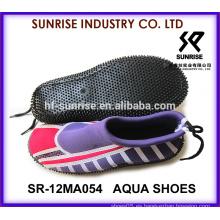 SR-14WA054 Paseo agradable de la señora en los zapatos del agua zapatos del agua de la aguamarina zapatos del agua zapatos del agua que practica surf