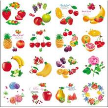 Round Shape Cartoon fruit Flower Design Iml, in Mold Label
