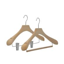Custom luxury branding natural beech wood hangers cloths hanger wood for display