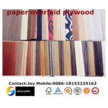 Brilliant Flower Design Paper Overlaid Plywood/Paper Plywood/Paper Laminated Plywood