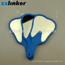 OEM Coloré en verre Dental Craft Teeth Shape Mirror