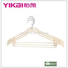 Пластмассовый держатель для одежды из ПВХ / вешалка с широкими плечами в естественном цвете