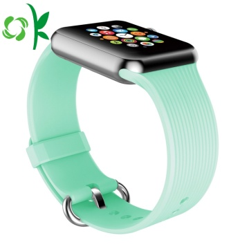 Satu Warna Tahan Air Apple Silicone Watch Straps